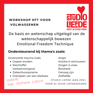 Workshop EFT voor volwassenen met The Tapping Coach